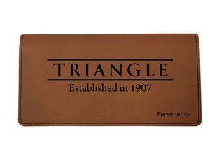 Triangle Leatherette Checkbook Cover