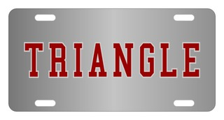 Triangle Lettered License Cover