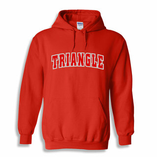 Triangle Letterman Twill Hoodie