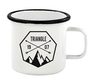 Triangle Metal Camping Mug