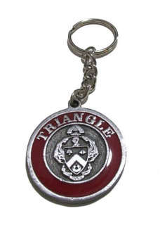 Triangle Metal Fraternity Key Chain
