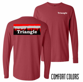 Triangle Outdoor Long Sleeve T-shirt - Comfort Colors
