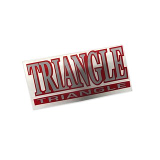 Triangle Name Over Name Sticker