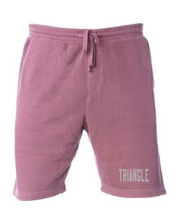 Triangle Pigment-Dyed Fleece Shorts