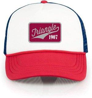 Triangle Red, White & Blue Trucker Hat