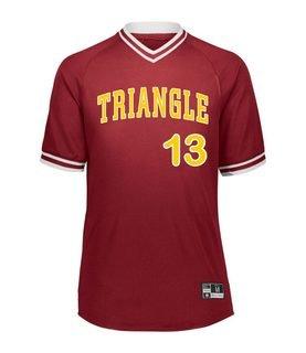 Triangle Retro V-Neck Baseball Jersey