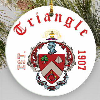 Triangle Round Christmas Shield Ornament