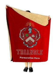 Triangle Two Tone Sherpa Lap Blanket