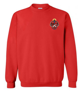DISCOUNT-Triangle World Famous Crest - Shield Crewneck Sweatshirt