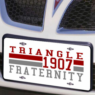 Triangle Year License Plate Cover