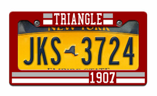 Triangle Year License Plate Frame
