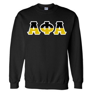 Two Tone Greek Lettered Crewneck Sweatshirt