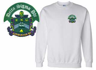 World Famous Crest Greek Sweatshirt- $15.95!