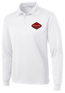 Woven Emblem Fraternity Long Sleeve Dry Fit Polo
