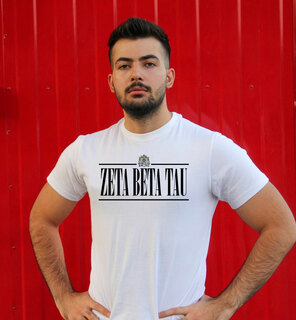 Zeta Beta Tau Line Crest Tee
