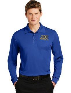Zeta Beta Tau- $30 World Famous Long Sleeve Dry Fit Polo