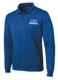 Zeta Beta Tau- $30 World Famous Long Sleeve Dry Fit Polo