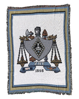 Zeta Beta Tau Afghan Blanket Throw
