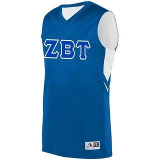 DISCOUNT-Zeta Beta Tau Alley-Oop Basketball Jersey