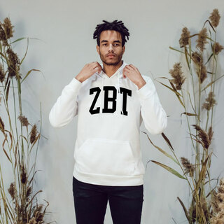 Zeta Beta Tau Arched Greek Letter Hooded Sweatshirt