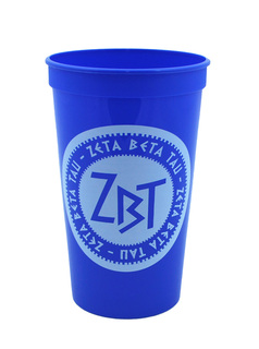 Set of 10 - Zeta Beta Tau Big Ancient Greek Letter Stadium Cup - Clearance!!!
