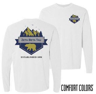 Zeta Beta Tau Big Bear Long Sleeve T-shirt - Comfort Colors