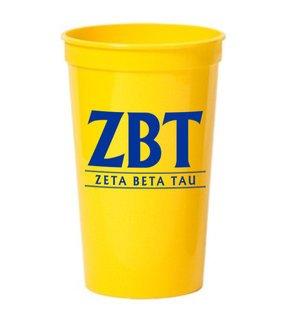 CLOSEOUT - Zeta Beta Tau  Big Classic Line Stadium Cup - 10 FOR $10!