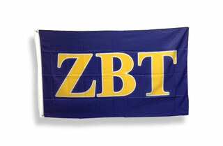 Zeta Beta Tau Big Greek Letter Flag