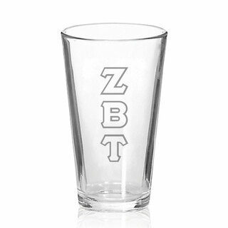 Zeta Beta Tau Big Letter Mixing Glass