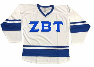 DISCOUNT-Zeta Beta Tau Breakaway Lettered Hockey Jersey