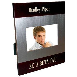 Zeta Beta Tau Brush Silver Frame