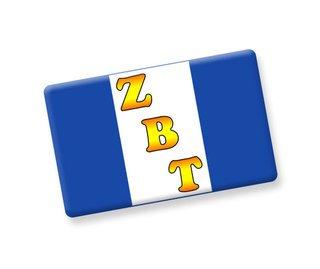 Zeta Beta Tau Ceramic Flag Magnet