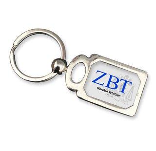 Zeta Beta Tau Chrome Crest Key Chain
