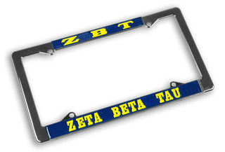 Zeta Beta Tau Chrome License Plate Frames