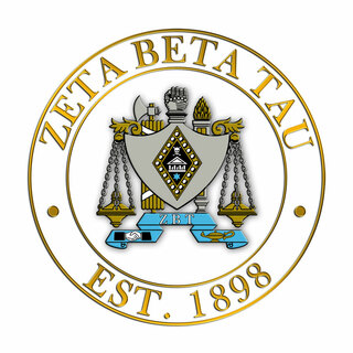 Zeta Beta Tau Circle Crest - Shield Decal