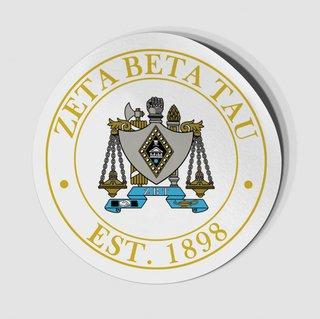 Zeta Beta Tau Circle Crest - Shield Decal
