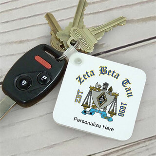 Zeta Beta Tau Color Keychains