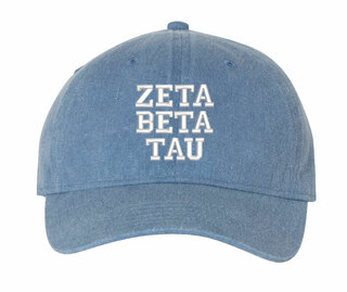 Zeta Beta Tau Comfort Colors Pigment Dyed Baseball Cap