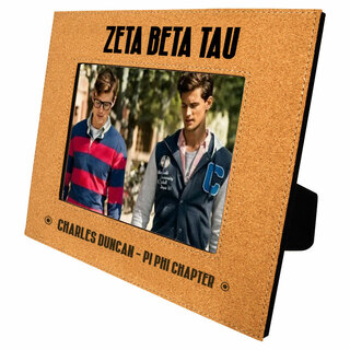 Zeta Beta Tau Cork Photo Frame