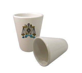 Zeta Beta Tau Crest Ceramic Collectors Glass