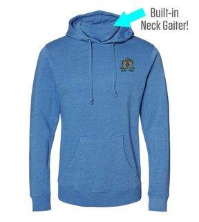 Zeta Beta Tau Crest Gaiter Fleece Hooded Sweatshirt