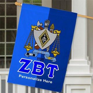 Zeta Beta Tau Crest House Flag