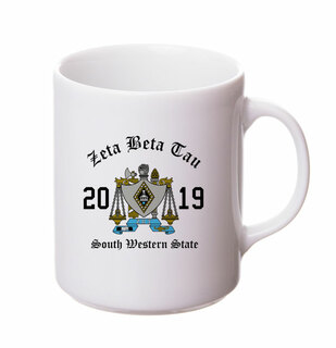 Zeta Beta Tau Crest & Year Ceramic Mug
