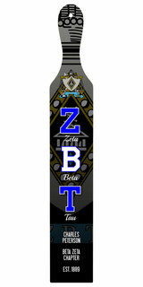 Zeta Beta Tau Custom Full Color Paddle