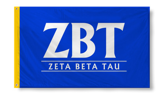 Zeta Beta Tau Custom Line Flag