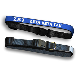 Zeta Beta Tau Dog Collar