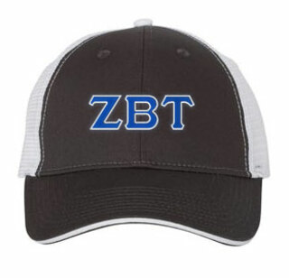 Zeta Beta Tau Double Greek Trucker Cap