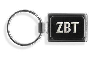 Zeta Beta Tau Engraved Chrome Keychains