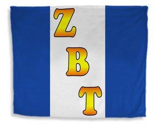 Zeta Beta Tau Flag Giant Velveteen Blanket