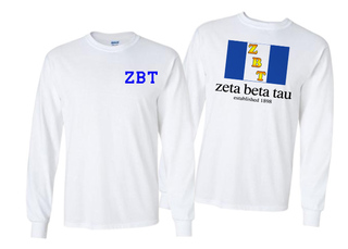 Zeta Beta Tau Flag Long Sleeve T-shirt
